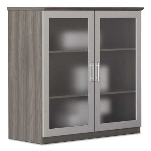 Mayline Medina Series Glass Display Cabinet MLNMGDCLGS,  (UPC:760771457228)