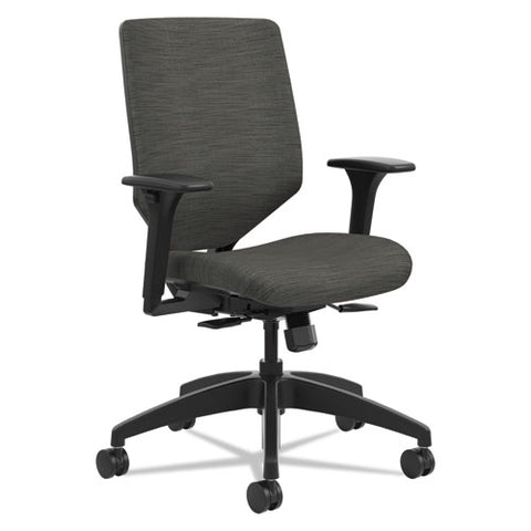 HON Solve Series Upholstered Back Task Chair in Ink Fabric, HONSVMU1ACLCO10