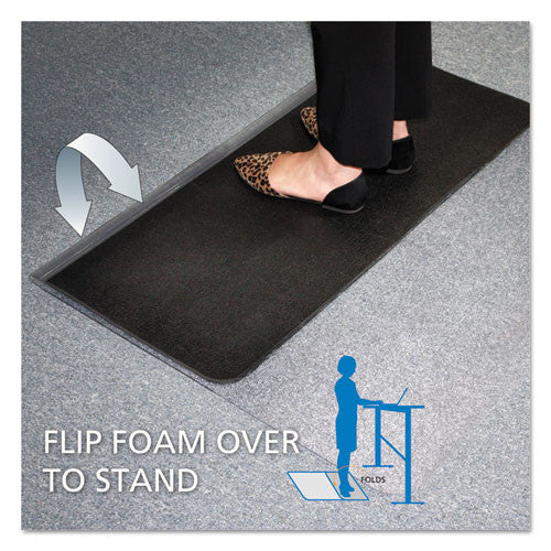ES Robbins Sit-or-Stand Dual-purpose Chair Mat ESR184603, Black (UPC:012544021595)