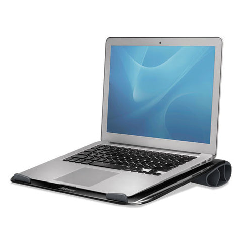 Fellowes I-Spire Series Laptop Lapdesk shown with Laptop ; UPC: 043859697458
