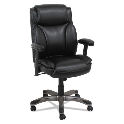 Alera Veon Series Leather Mid-Back Manager's Chair W/coil Spring Cushioning ; UPC: 42167392772