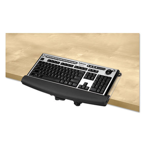 Fellowes I-Spire Series Desktop Edge Keyboard Lift in Black ; UPC: 043859697489