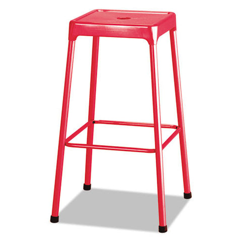 Safco Bar-Height Steel Stool SAF6606RD,  (UPC:073555660616)