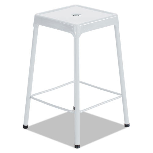 Safco Bar-Height Steel Stool SAF6606WH,  (UPC:073555660692)