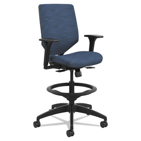 Solve Series Upholstered Back Task Stool, Midnight ; UPC: 020459666206