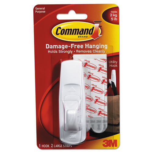 Command Large Reusable Adhesive Strip Hook ; (051131651425)
