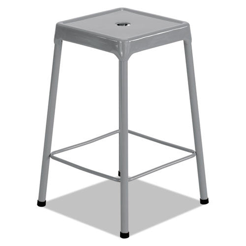 Safco Counter-Height Steel Stool SAF6605SL,  (UPC:073555660500)