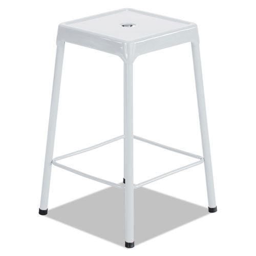 Safco Counter-Height Steel Stool SAF6605WH,  (UPC:073555660593)