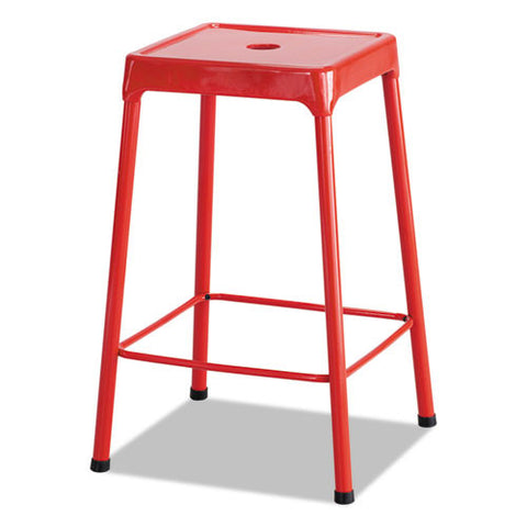 Safco Counter-Height Steel Stool SAF6605RD,  (UPC:073555660517)