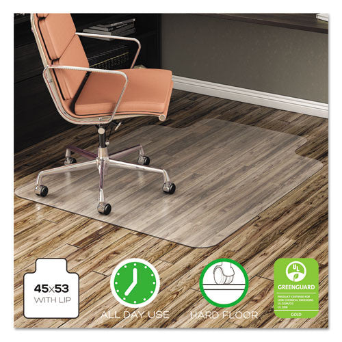 deflecto EconoMat Non-Studded Anytime Use Chairmat for Hard Floors DEFCM21232COM,  (UPC:079916017556)