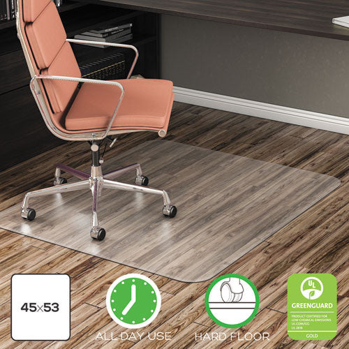 deflecto EconoMat Non-Studded Anytime Use Chairmat for Hard Floors DEFCM21242COM,  (UPC:079916017679)