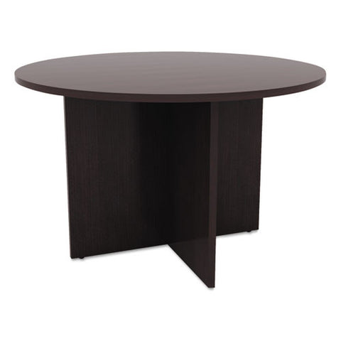 Alera Valencia Series Round Conference Tables with Straight Leg Base ALEVA7142ES,  (UPC:042167304362)