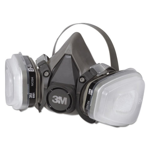 Half Facepiece Paint Spray/Pesticide Respirator, Small MMM6111PA1A ; Image 1