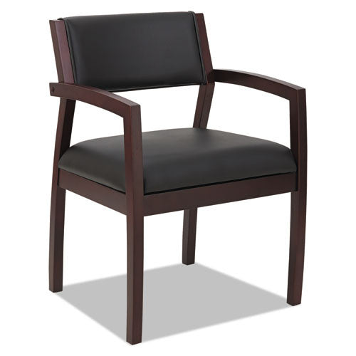 Alera Reception Lounge 500 Series Half Back Wood Guest Chair ALERL5319M,  (UPC:042167392697)