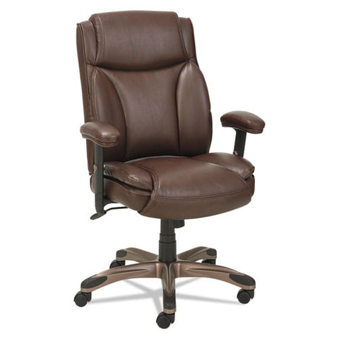 Alera Veon Series Leather Mid-Back Manager's Chair W/coil Spring Cushioning ; UPC: 42167392789