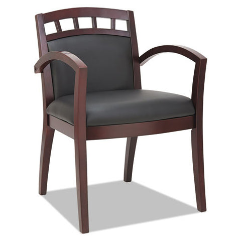 Alera Reception Lounge 500 Series Arch Back Cut-Out Wood Guest Chair ALERL5119M,  (UPC:042167392680)