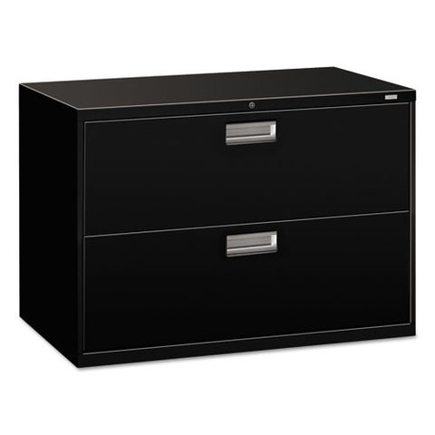 HON Brigade 600 Series Lateral File in Black ; UPC: 089192063345