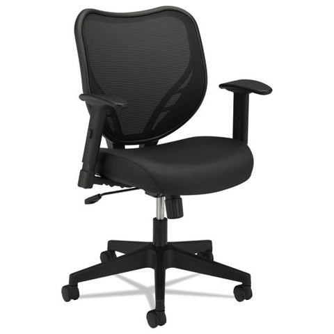 basyx by HON HVL551 HON Mesh Mid-Back Task Chair in Black ; UPC: 641128030687