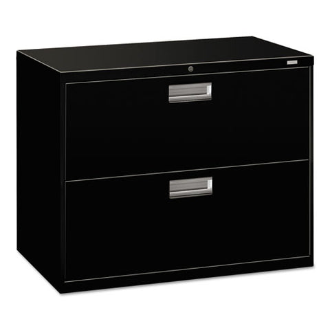 "HON Brigade 600 Series Lateral File, 2 Drawers, 36""W, Black Finish ; UPC: 089192062690"