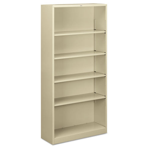 "HON Brigade Steel Bookcase | 5 Shelves | 34-1/2""W x 12-5/8""D x 71""H 