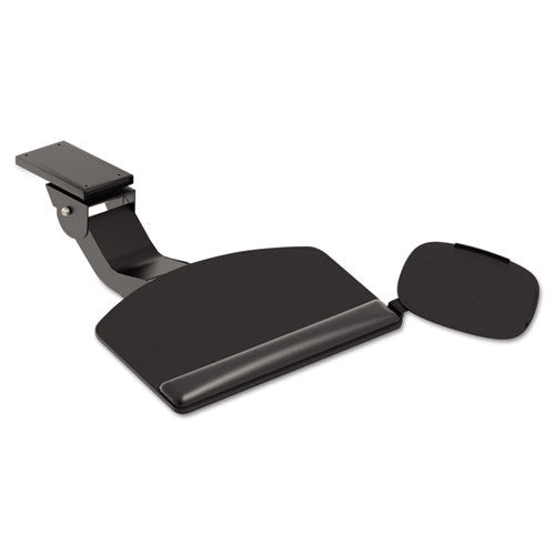 HON Convertible Keyboard with Articulating Arm and Mouse Pad in Black ; UPC: 020459727334