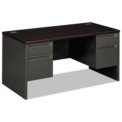 "HON 38000 Series Double Pedestal Desk | 2 Box / 2 File Drawers | 60""W x 30""D x 29-1/2""H 