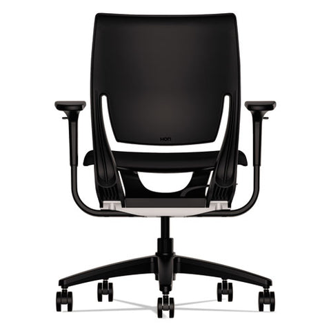 HON Traction High-Back Executive Chair, Center-Tilt, Black Leather ; UPC: 089191578031; Image 2
