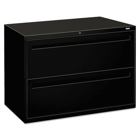 HON Brigade 700 Series Lateral File in Black ; UPC: 089192863549