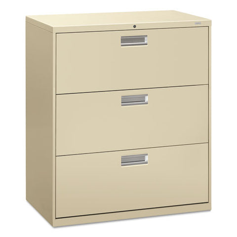 HON Brigade 600 Series Lateral File in Putty ; UPC: 089192062874
