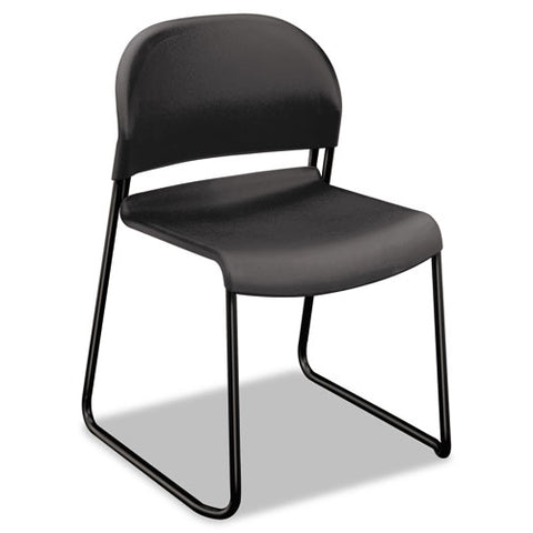 HON GuestStacker High-Density Stacking Chair | Lava Shell | 4 per Carton ; UPC: 791579239815 ; Image 1