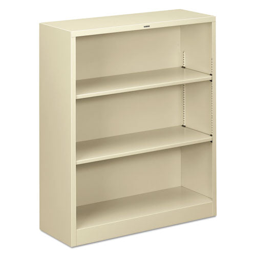 "HON Brigade Steel Bookcase | 3 Shelves | 34-1/2""W x 12-5/8""D x 41""H 