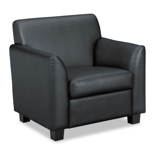 HON Circulate Tailored Club Chair | Black SofThread Leather ; UPC: 745123993937 ; Image 1