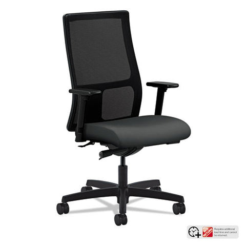 HON Ignition Mid-Back Mesh Task Chair in Iron Ore ; UPC: 745123584616