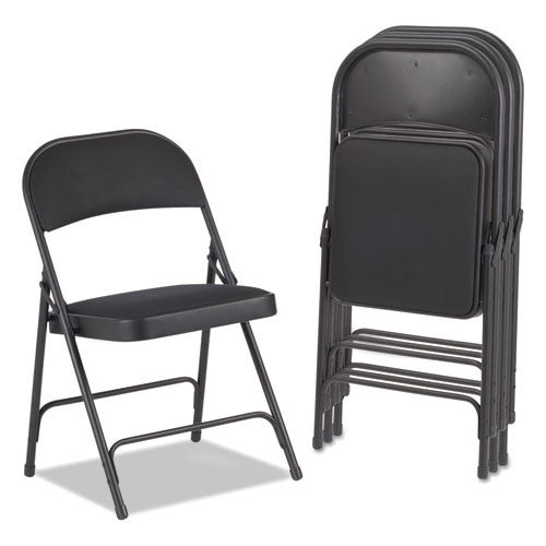 Alera Steel Folding Chair with Two-Brace Support ALEFC97B,  (UPC:042167960346)