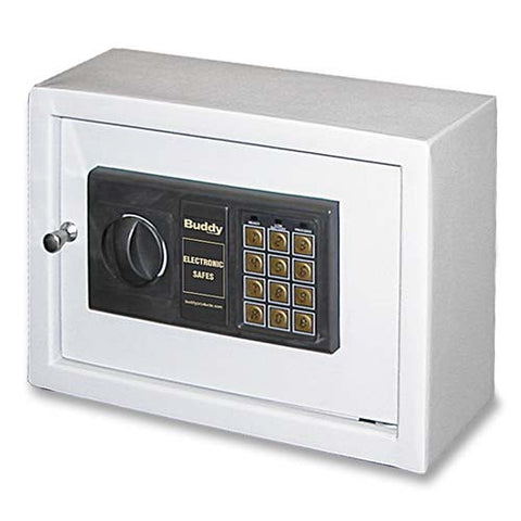 "Buddy_Buddy Small Electronic Drawer Safe - 0.47 ftå? - Electronic Lock - 4.75"" x 11.87"" x 8.75"" - Gray_	 - 1"