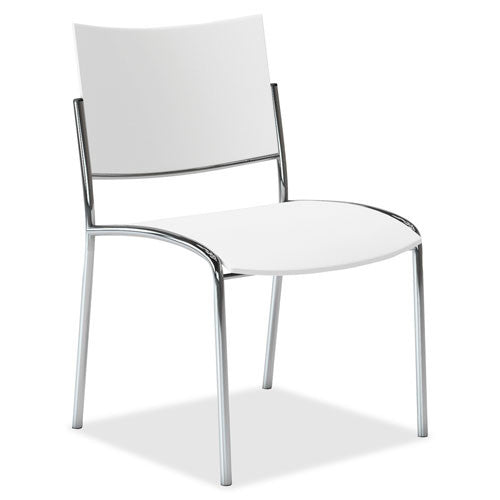 Mayline Escalate Series Seating Stackable Chairs MLNESC2W, White (UPC:760771401221)