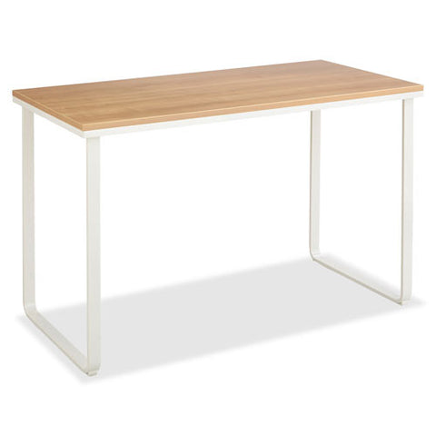 Safco Steel Table Desks ; Beachwood/white ; (073555194319)