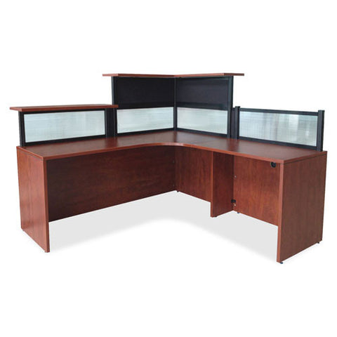 "Lorell Desktop panel System Corner Transaction Top - 42"" Wide ; Complete Desk View (035255876179)"