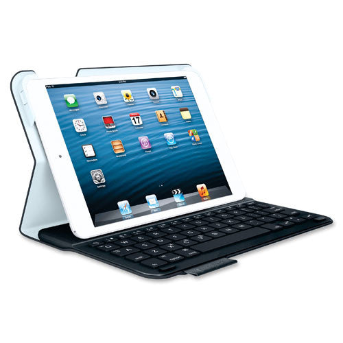 "Logitech Keyboard/Cover Case (Folio) for 7"" iPad mini - Black ; (097855099013) ; View 1"