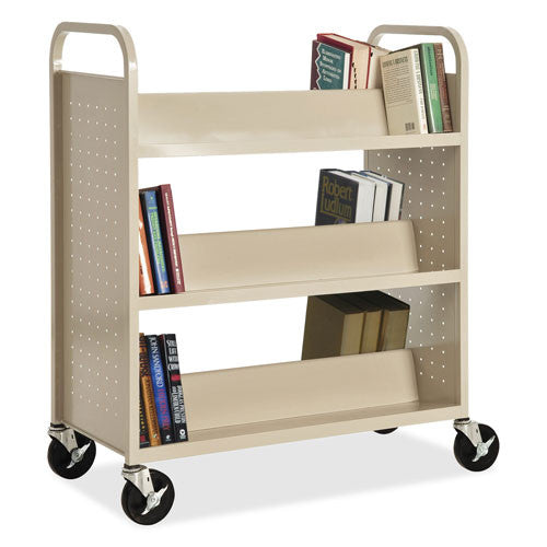 Lorell Double Sided Book Cart (035255492027)