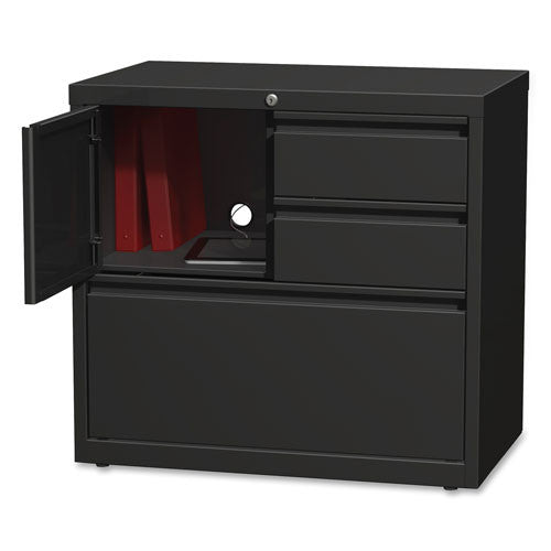 "Lorell 30"" Personal Storage Center Lateral File LLR60933, Black (UPC:035255609333)"