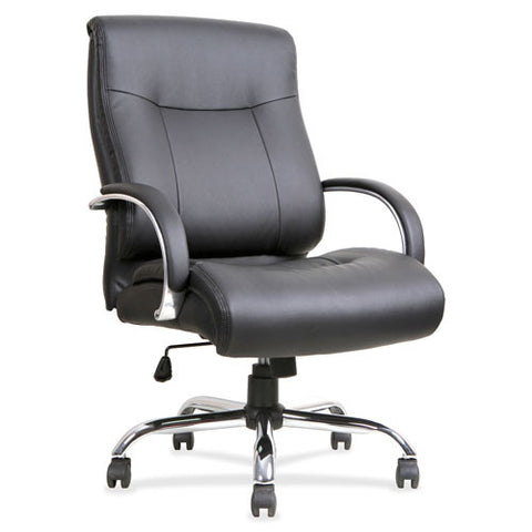Lorell Leather Deluxe Big/Tall Chair LLR40206, Black (UPC:035255402064)