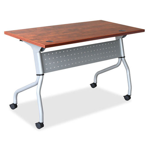 Lorell Cherry Flip Top Training Table LLR60720, Cherry (UPC:035255607209)