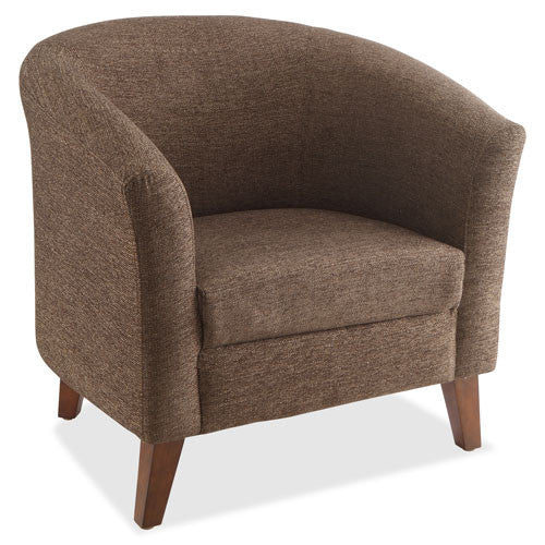 Brown Lorell Barrel Armchair ; UPC: 035255820974