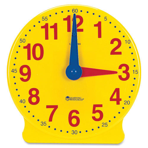 Learning Resources Learning Clock, 12-Hour Demonstration Clock ; (765023007763)