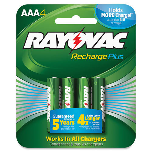 Rayovac PL724-4 Rechargeable AAA Battery ; (012800519781)