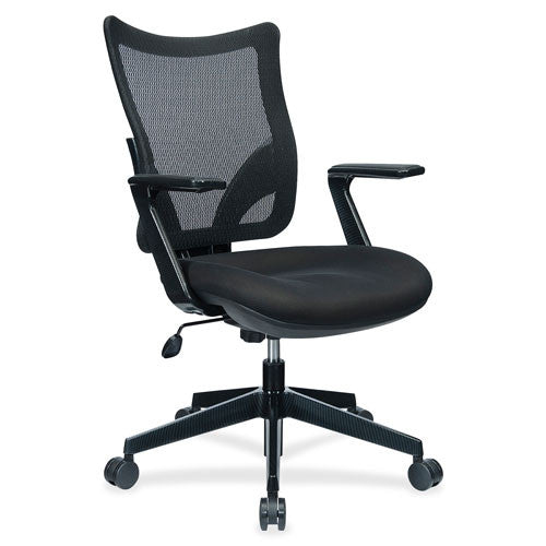 Lorell S-8 Task Mesh Back Task Chair LLR25973, Black (UPC:035255259736)