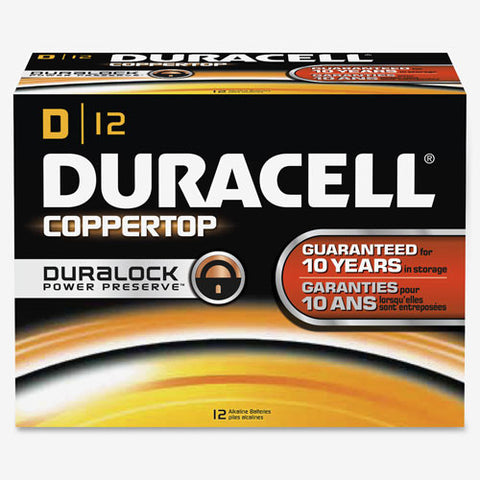Duracell CopperTop D Batteries ; (041333013015)