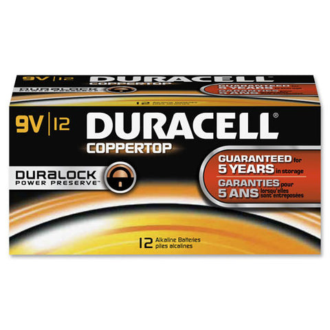Duracell 9-Volt CopperTop Batteries ; (041333016016)