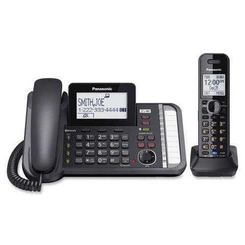 Panasonic Link2 Cell KK-TG9582B DECT 6.0 Cordless Phone - Black (885170153400)